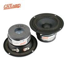 مكبر صوت متوسط الكثافة 3 بوصة من GHXAMP HIFI مكبر صوت متوسط الطول 4ohm 15 وات مغنطيسي ثنائي اللون لهاتف KTV مكون من قطعتين