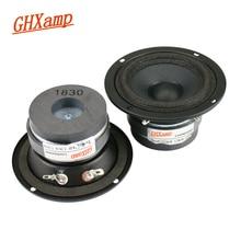 GHXAMP HIFI 3 Cal głośnik średniotonowy 4ohm 15W Mid Mediant wokal natura podwójny magnetyczny dla KTV samochodowy sprzęt audio Upgrade 2 sztuk
