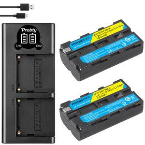 Image 2 - Bateria de câmera + carregador sony, 3200mah, NP F550 NP F330, np, f550, np f330, lcd, dual usb, para sony NP F550 NP 750 yongnuo luzes da câmera
