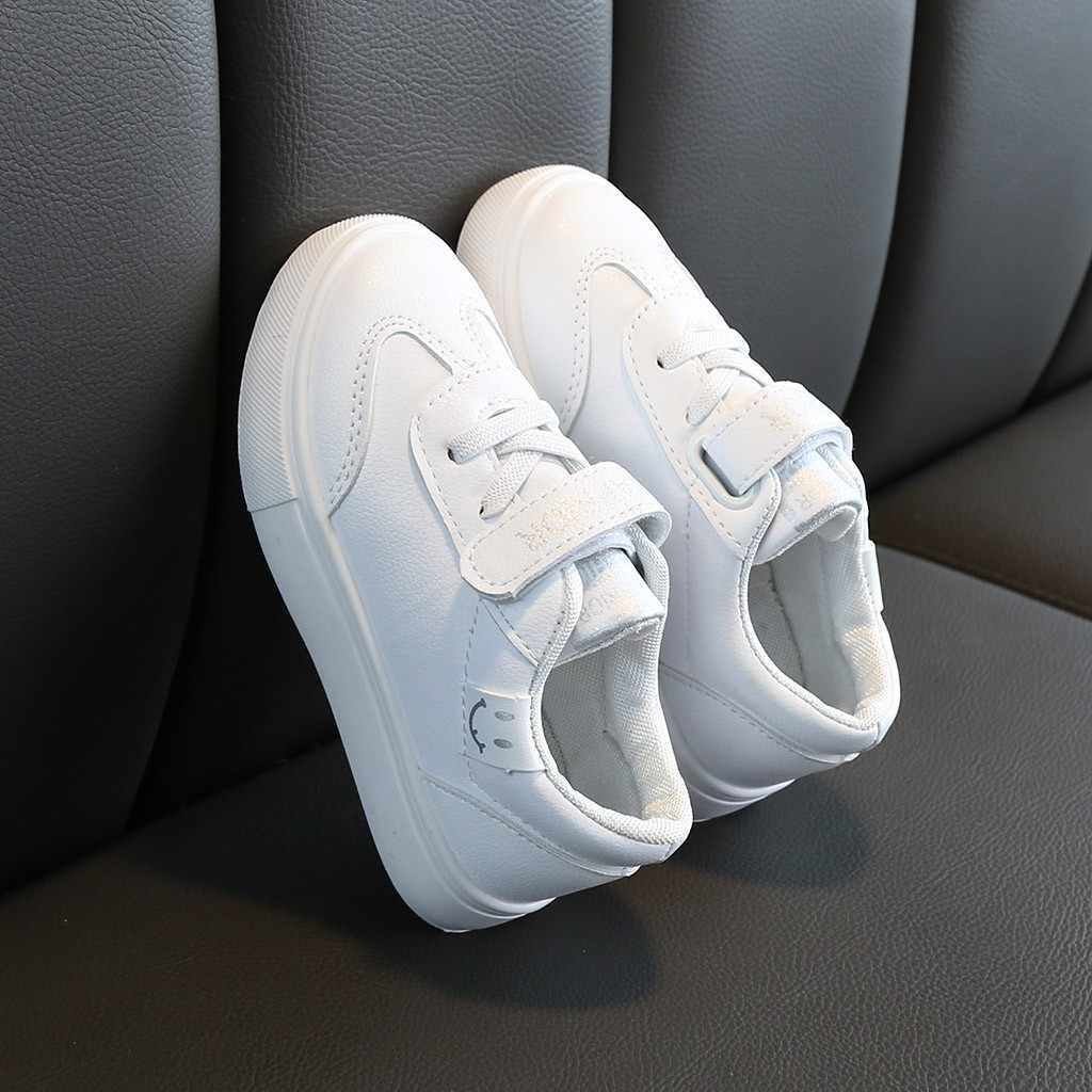 الأطفال أحذية الاطفال طفل الفتيات الفتيان ابتسامة مدرسة شقة أحذية رياضية أحذية خفيفة أنيقة Chaussure Fille Enfant الاطفال أحذية رياضية