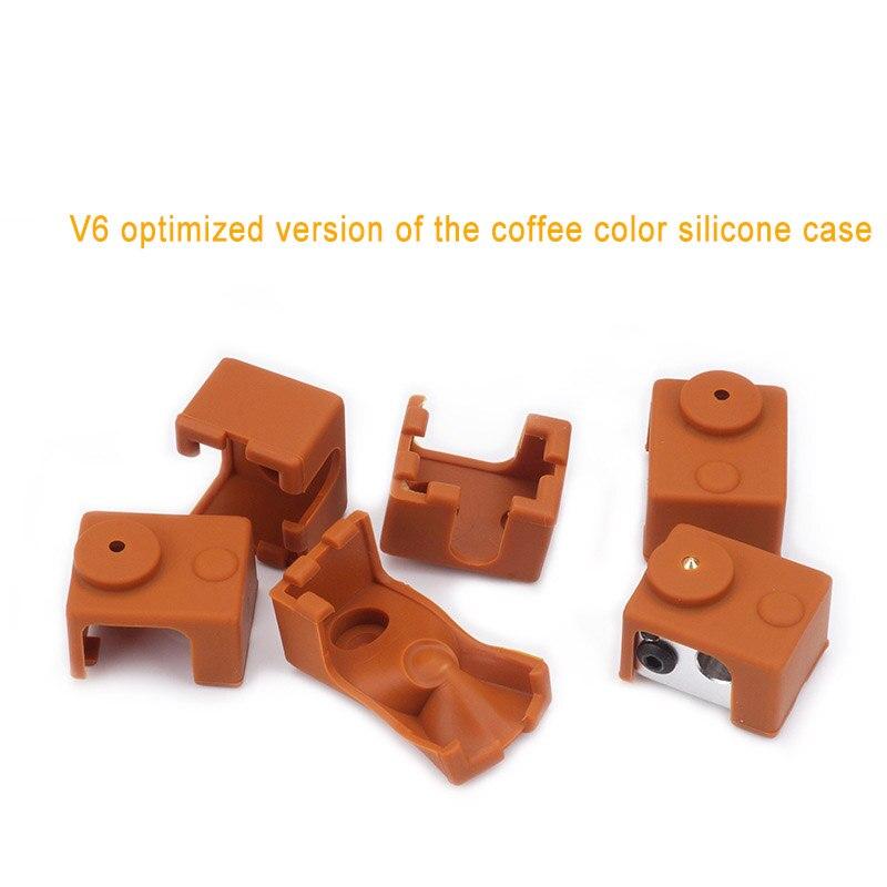 3D-принтеры изоляции силиконовые носки с подогревом блок теплый держать крышку Reprap для V6 PT100 Hotend QJY99