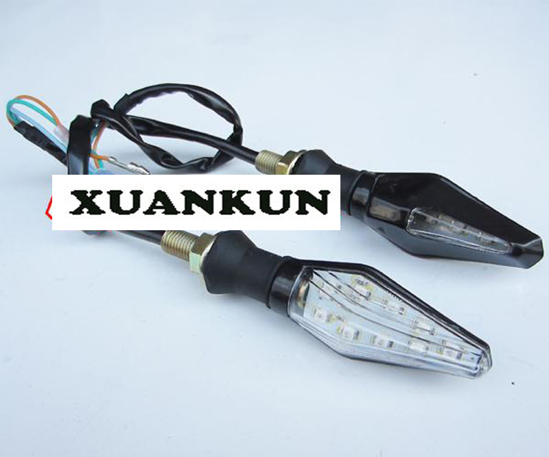 XUANKUN Scooter Ride Across The Street Sports Car Off-road Motorcycle Turn Signal Conversion Sided With flash LED turn signals