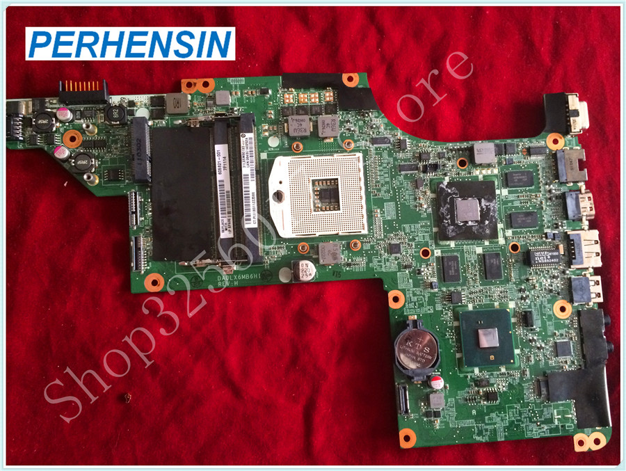For HP For Pavilion DV7 DV7-4000 Motherboard DA0LX6MB6H1 605321-001 100% tested good 580974 001 for hp pavilion dv7 dv7t dv7 3000 laptop motherboard tested working