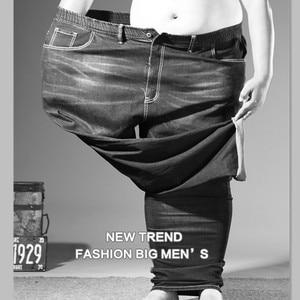 Image 5 - Plus Big Size Black Jeans Men 5XL 6XL 7XL 8XL 54 56 58 59 60 200KG Elastic Denim Trousers Mens Jean Brand 2019 Pants Man Clothes