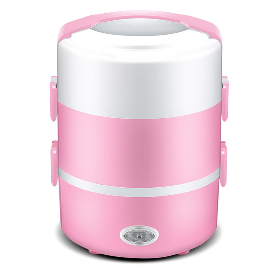Mini Cooker Potable Picnic Lunch Cabinet Keep Wram Food Container Electrical Heating Bento Box Mini Kitchen Supplies For 1-2 man sikote insulation fold cooler bag chair lunch box thermo bag waterproof portable food picnic bags lancheira termica marmitas