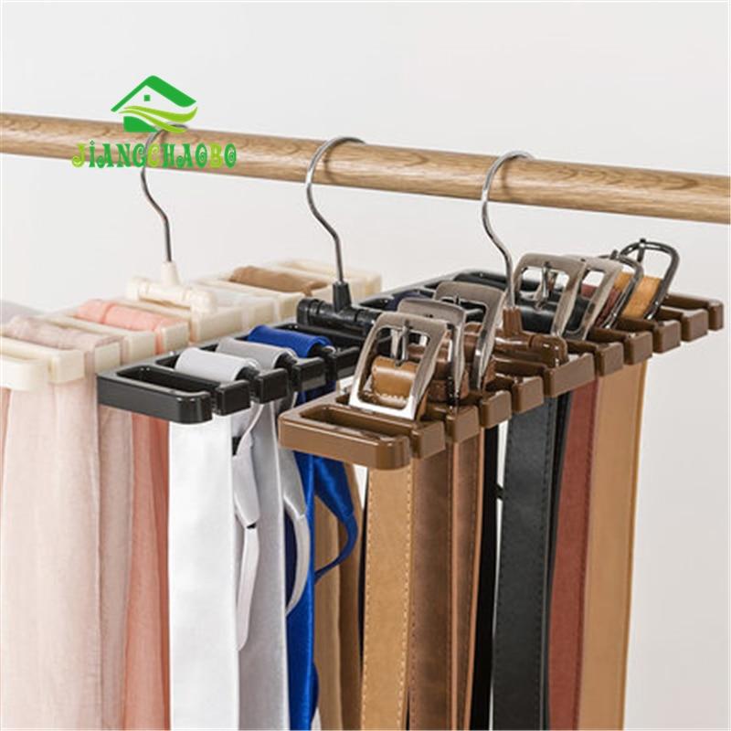 Sturdy Plastic Tie Belt Scarf Rack Organizer Closet Wardrobe Space