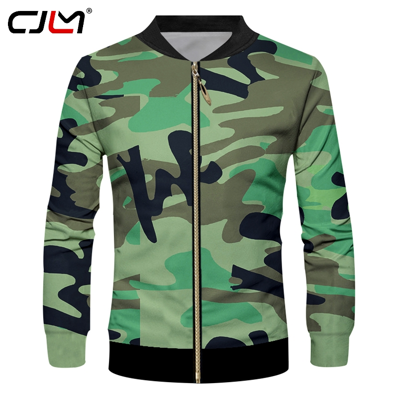 sale retailer sneakers for cheap many styles US $23.6 47% OFF CJLM Men's Cool Print Military Jackets 3d Green Camouflag  Coats Man Hiphop Long Sleeve Biker Short Coat Jacket Zip Top Outwears-in ...