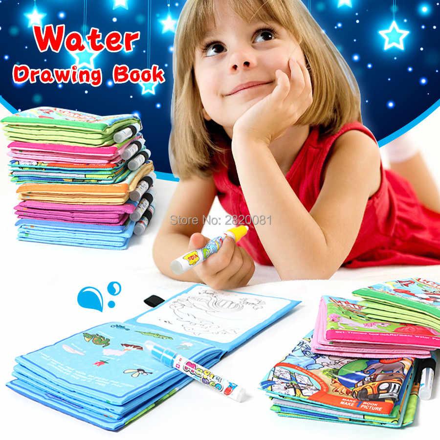 Magical Air Gambar Buku 5 Gaya Tema Babi Hutan & Dapat Diisi Ulang Lukisan Mainan Anak Anak Mewarnai Buku Coretan Babi Hutan Dengan Pena Air