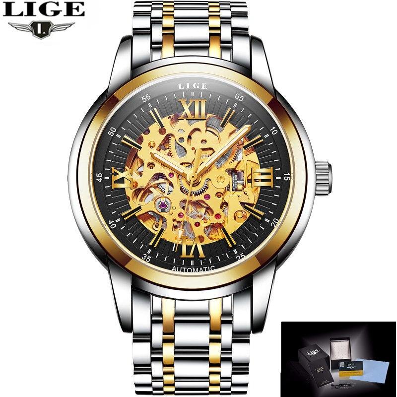 Men font b Watches b font 2017 LIGE Men font b Watches b font Brand Luxury