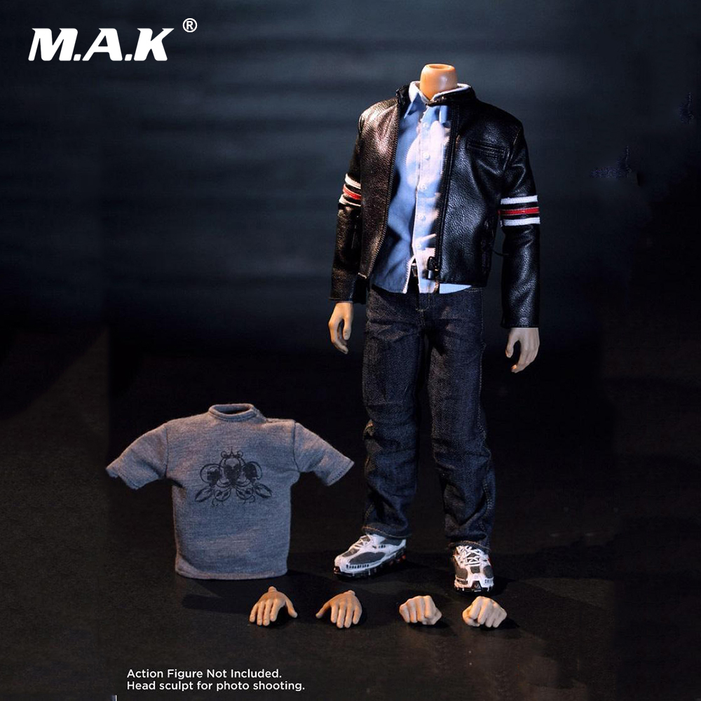 1:6 Scale Male Clothes Suit Leather Jacket Men's Jacket Suit Model For 12'' Action Figure Body Accessories 1 6 scale figure doll clothes male jacket suit for 12 action figure doll accessories not include doll shoes and other no1505
