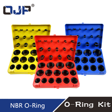 382/386Pc Zwart Rubber Ring 30Size Nitril O Ring Ring Afdichting Nbr O Ring Pakking rood/Blauw/Geel Assortiment Set Kit Doos