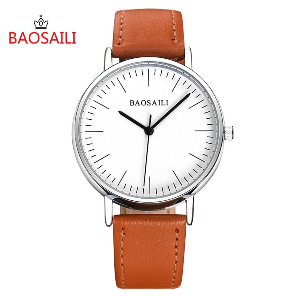 Casual Couple Watches Classic Simple Design Dial Mens Watches Lesther Strap Stainless Steel Back Women Watch Quartz Wristwatches