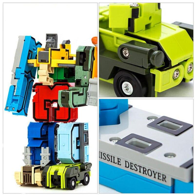 GUDI 2086 Transformer Number Robot Bricks 10 in 1 43