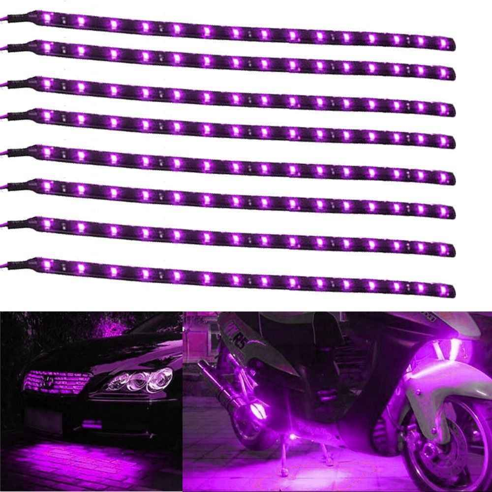 8X Waterproof 30cm//15LED Car Truck Motor Flexible Strip DRL Light Bulb 12V Green