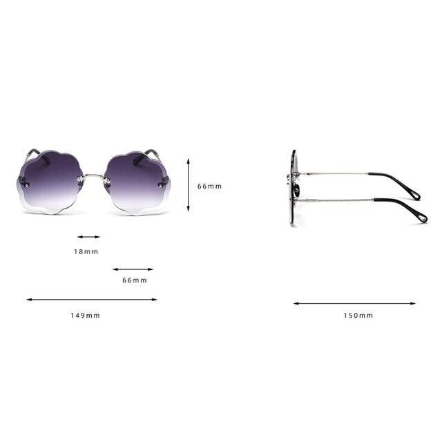 Kachawoo-lunettes de soleil vintage femmes | Lunettes de soleil sans bords, grand nuage, dégradé, articles cadeaux fête, uv400, accessoires de mode