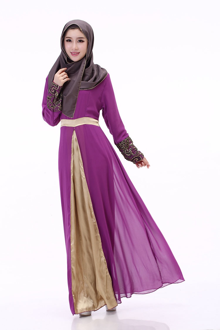 Mlxl Xxl In Stock New Muslim Robe Chiffon Gown Long Sleeved Kemeja Lavender Multicolor Shop At Velvet Abaya Islamic Clothing From Novelty Special Use On Alibaba Group