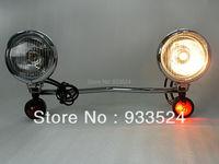 Set Amber Turn Signal for Suzuki Spotlight Kawasaki Bar Boulevard C50 S50 C90 M109R Vulcan 900 1700 Classic 800 Drifter Custom