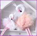 INS Toys 55cm Swan Doll Home Decoration Flamingo Handmade Swan Stuffed Toy Animals Room Decor Dolls & Stuffed Toys Girls Gifts
