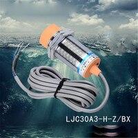חיישן מתג קרבת קיבולי עמיד למים LJC30A3-H-Z/BX NPN שלושה קו dc בדרך כלל פתוח מרחק אינדוקציה 25 מ