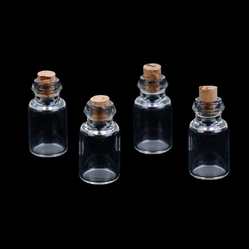4Pcs DIY 1:12 Scale Parts Glass Transparent Minature Empty Glass Bottle Dollhouse Craft Home Decoration Simulation Glass Model