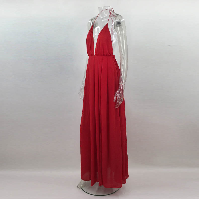 HTB1y2PcgyAKL1JjSZFoq6ygCFXa1 - 2018 New Fashion Sling Bandage Maxi Long Dress Women's Robe Long femme vestido de festa elbise