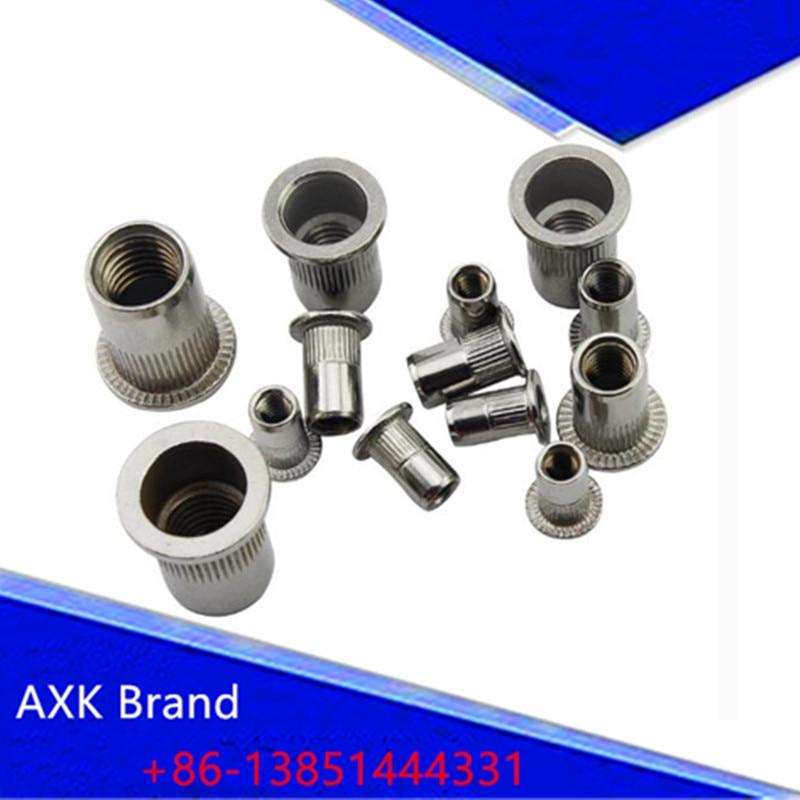 20//50//100pcs M5 5 mm 304 Acier Inoxydable Plat rivet écrou Rivnut Insert NUTSERT
