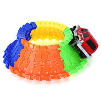 High Quality Racing Track Bend Flex Assembly Toy 28pcs Race Stunt Track Set 1pcs Car For