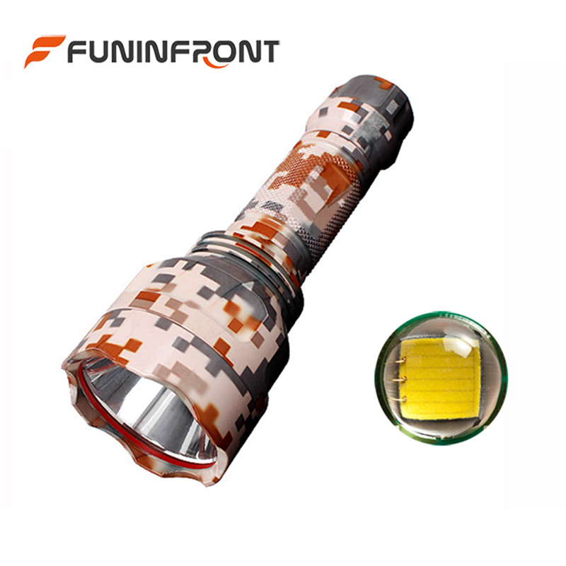 3 Light Modes Camouflage color Outdoor 500 Meters High Range <font><b>LED</b></font> Torch, <font><b>10W</b></font> Powerful <font><b>CREE</b></font> T6 Tactical Flashlights for Sale