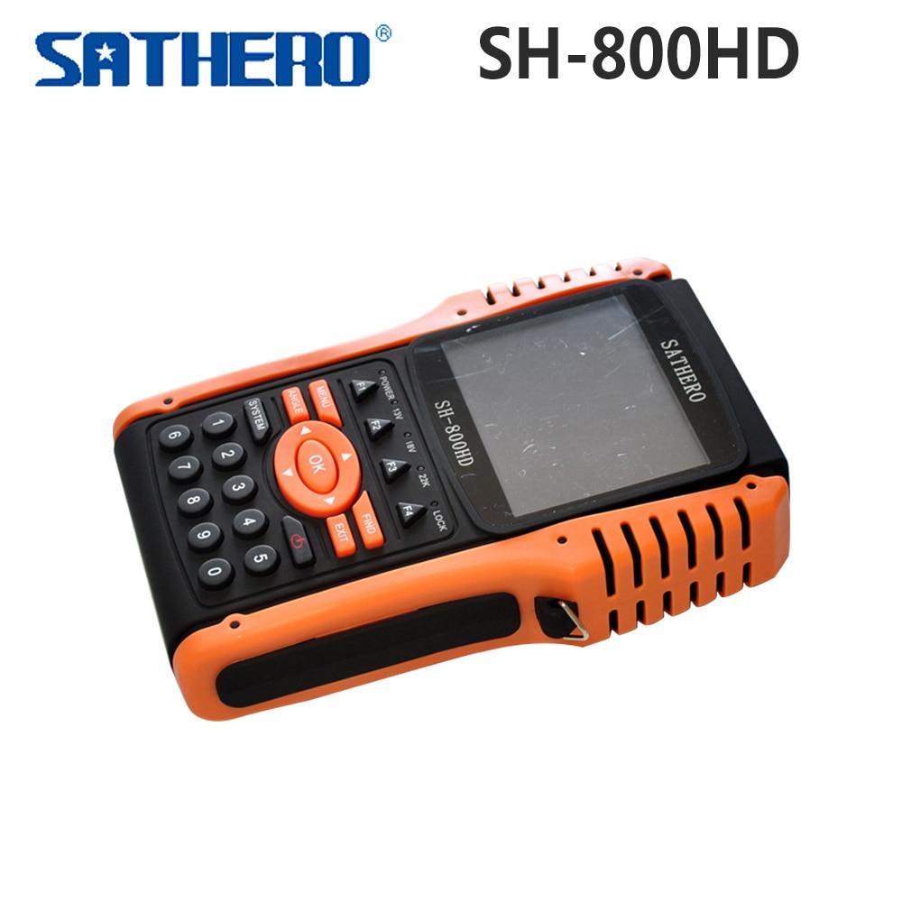 Original Sathero SH-800HD DVB-S2 800HD Digital Satellite Finder Meter HD Output Sat finder HD with Spectrum Analyzer original dvb t satlink ws 6990 terrestrial finder 1 route dvb t modulator av hdmi ws 6990 satlink 6990 digital meter finder