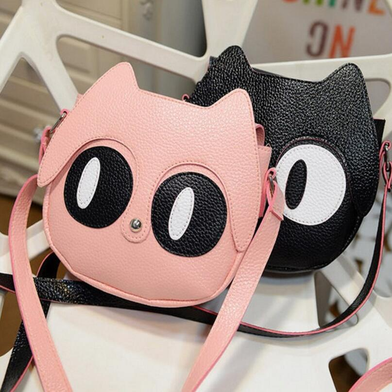 Cute cartoon Cat baby girls Messenger Bag Princess hand bag kids school bag fashion Shoulder Bag for children mochila infantil girls mini messenger bag cute plush cartoon kids baby small coin purses lovely baby children handbags kids shoulder bags bolsa