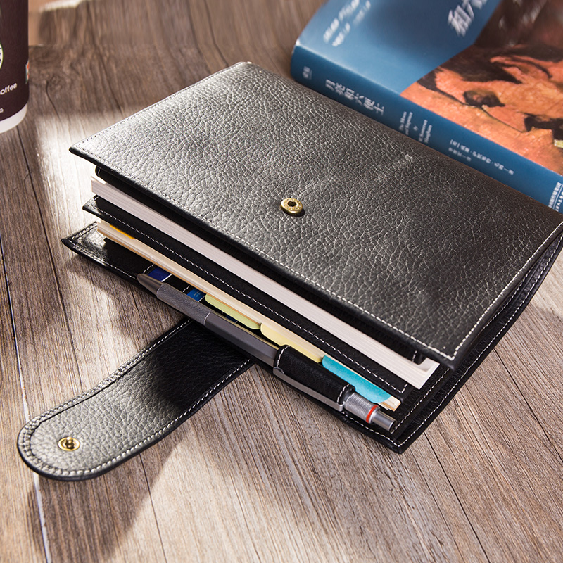 Image 4 - 2019 Travel Journal Leather Notebook with Ring Binder Best Gift For Men Women Personal Organisers Diary Planner To Write In A6-in Notebooks from Office & School Supplies