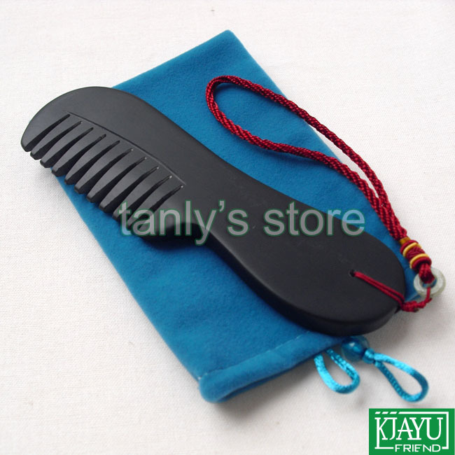 Free shipping! wholesale & retail Original Si Bin Black Bian stone massage guasha comb 170x55x10mm free shipping   wholesale retail  2