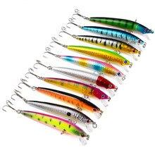 1pcs 9.5cm/8.5g Fishing Lures High Quality Fake Bait 8 Colors Artificial Make Plastic Crankbait Wobblers