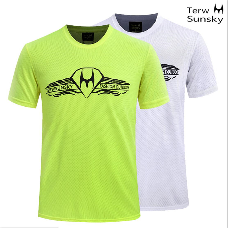 Free Shipping-2016 New Summer Hot Sale Terwsunsky Men Outdoor Quick-drying Gym Sport Short-sleeve Fast Drying T-shir TD058