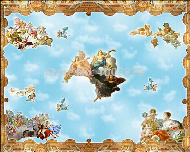 Beibehang Non Woven Home Decor KTV Bar Ceiling 3D Large Wall Stickers Wall  Paper Mural