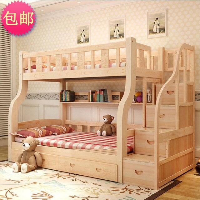 Oferta especial de envío tienda bajo la madre cama doble cama para ...