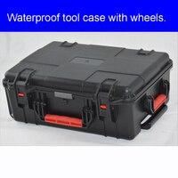 Caixa protetora impermeável da ferramenta da caixa da barra da tração com a caixa do trole da espuma do pré corte para o caso do transporte do equipamento precioso|Estojos ferramenta| |  -