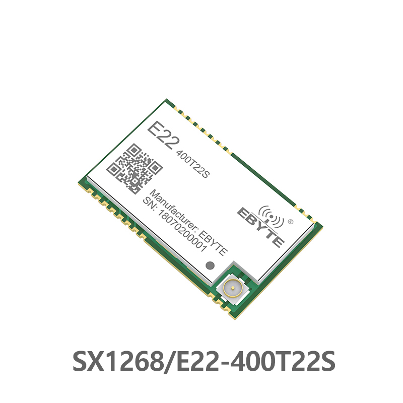SX1268 TCXO UART LoRa Net Working E22 400T22S SMD Stamp Hole RSSI Wireless Transceiver 22dBm 433MHz  IPEX  RF Module Receiver-in Fixed Wireless Terminals from Cellphones & Telecommunications