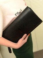 2018 New Fashion Pu Leather Bag Purse Female Zipper Pockets Coin Purse Women Clutch Wallet Handbag Messenger Bag Free Shipping