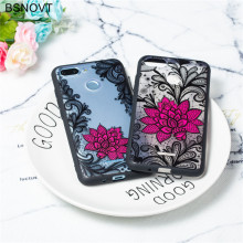 For Xiaomi Redmi 6 Case TPU +PC Silicone Lace Rose Flower Anti-knock Phone Cover Capa