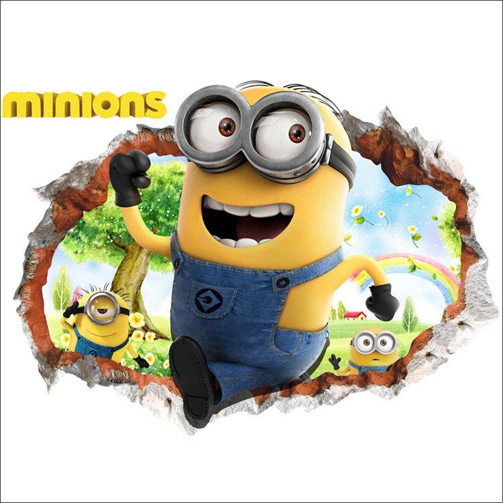 Online kaufen gro handel minion tapete aus china minion tapete gro h ndler - Minions wandtattoo ...
