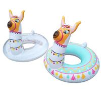 Environmentally Friendly PVC Baby Float Inflatable Alpaca Floating Row Summer Swimming Pool Toys for Children