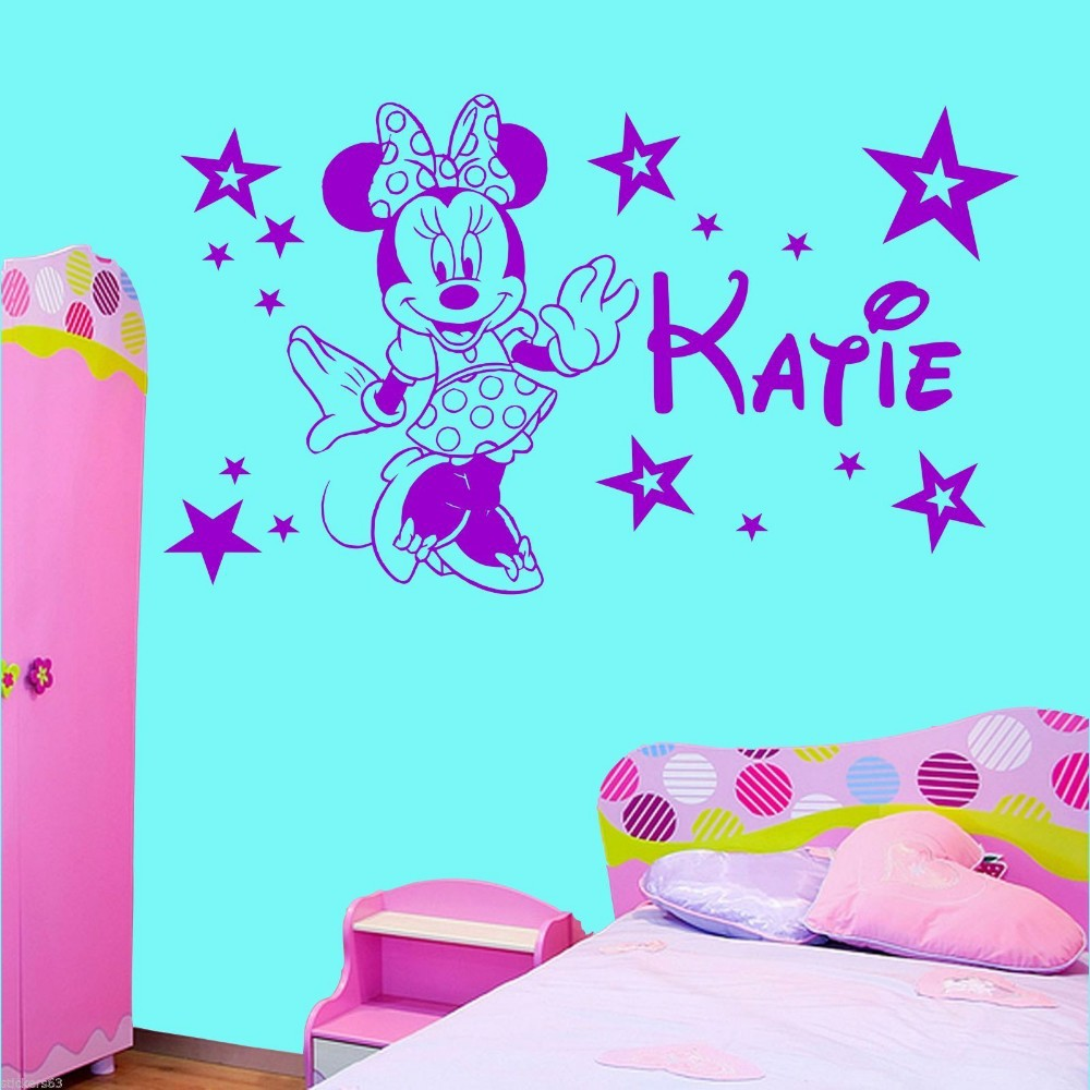Home decoration personalised minnie mouse stars girls bedroom wall home decoration personalised minnie mouse stars girls bedroom wall art sticker decal any name wall stickers in wall stickers from home garden on amipublicfo Choice Image