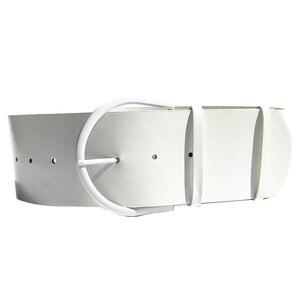 Image 3 - Cinturón de piel con hebilla redonda para mujer, con hebilla redonda Cinturón de piel, estilo clásico, 2018
