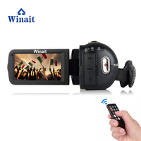 WINAIT HDVZ80 FULL HD 1080p digital video camcorder with 3.0'' touch display and 120x digiatal zoom free shipping