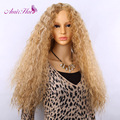 Amir Hair synthetic wigs blonde Fluffy Long  wig blonde and White Synthetic Curly Sexy  hair Wig Heat Resistant  free shipping