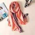 2017 new fashion women's scarf soft solid summer shawls silk scarves pashmina femme bandana