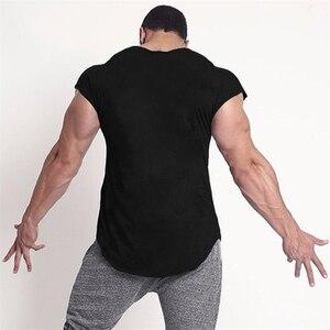 Брендовая мужская одежда для фитнеса, новинка 2020, майка для занятий спортом, жилет в стиле хип-хоп, уличная одежда, Облегающая рубашка без рукавов