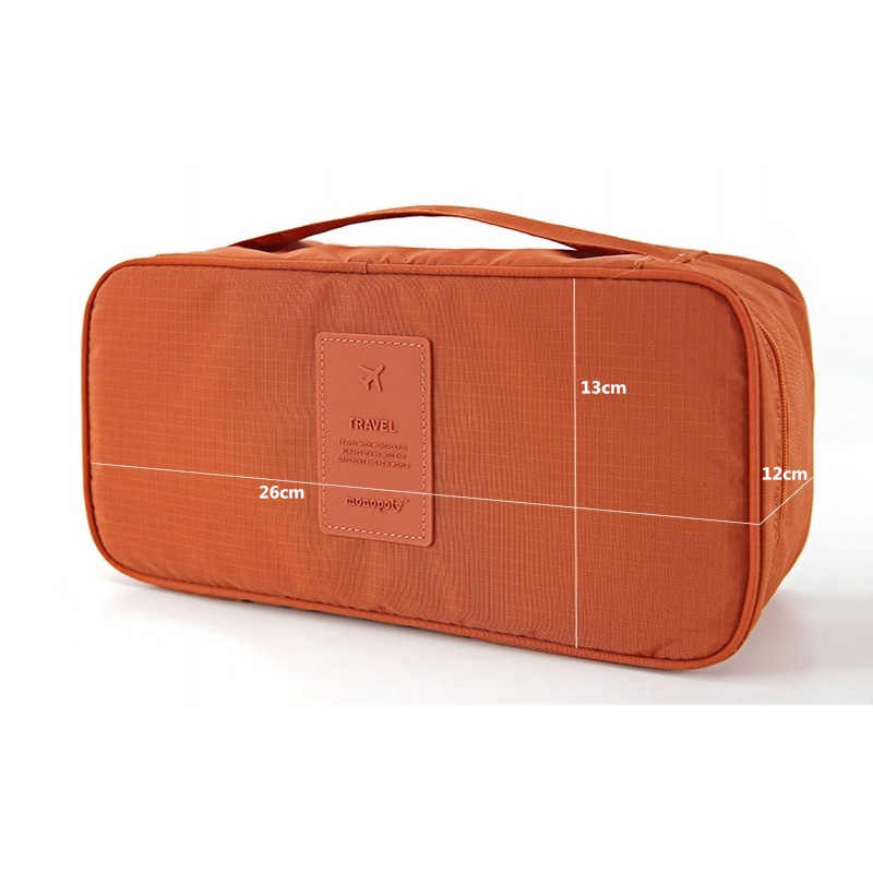 HMUNII clothes organizer caixa de armazenamento underwear bra embalagem à prova d' água maquiagem make up organizador cosméticos saco de viagem de armazenamento de pano