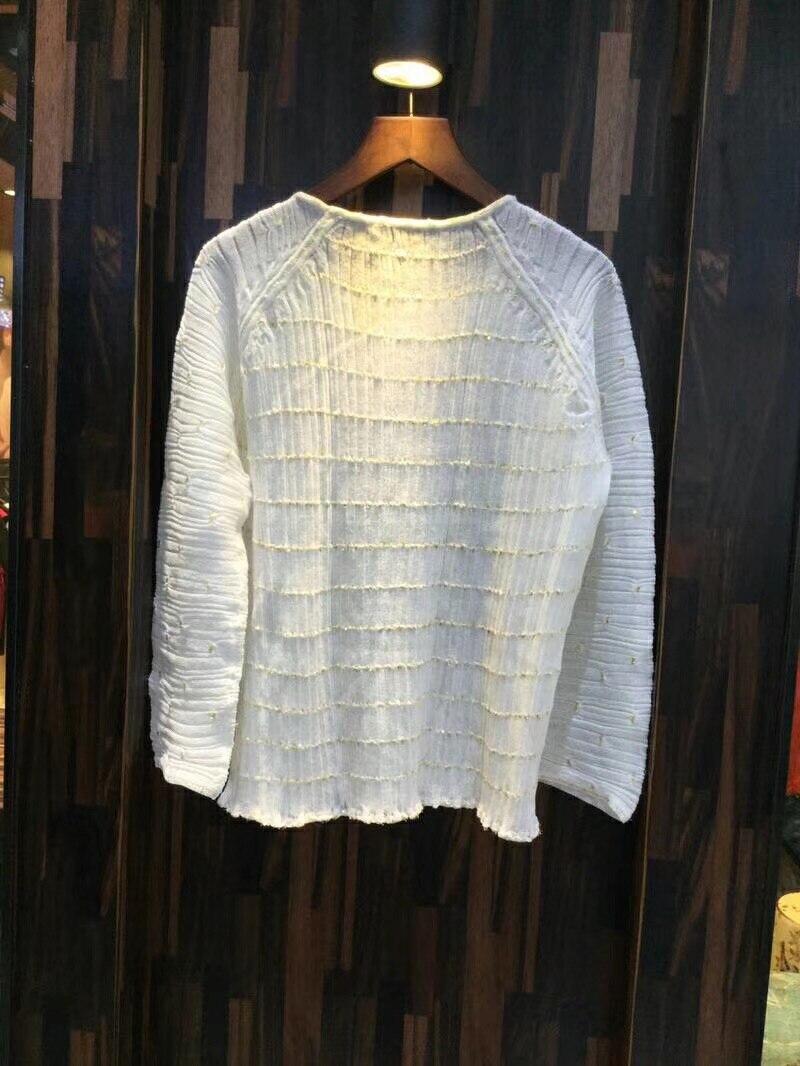 Manches Nouveau Blanc Qualité O Haute D'été Blouses Pour Femmes Dame cou De 2018 Mode Avec Printemps Shirts Les Longues 088Bw